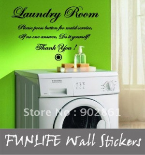 funlife] 40x60cm Laundry Room Do it Yourself Vinyl Home Wall