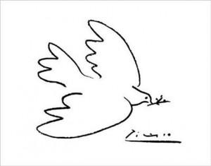 La Colombe de la paix est un dessin sur affiche de Pablo Picasso ...