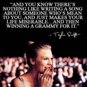 Taylor Swift Quote ~ singer songwriter ~Revenge
