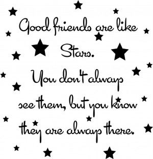 Good-Friends-Are-Like-Stars-Vinyl-Decal-Wall-Sticker-Words-Letters ...