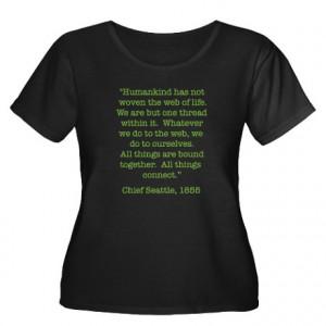 ... Artegrity Womens > Nature Quotes 1 Women's Plus Size Scoop Neck Dark