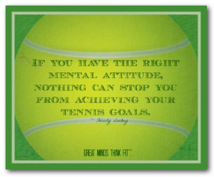 Tennis Poster with Quote #003