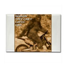 Sasquatch Bigfoot Big Foot Dirt Bike Funny T-Shirt for