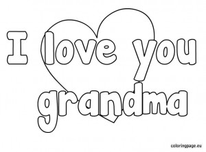 Love You Grandma Coloring Pages