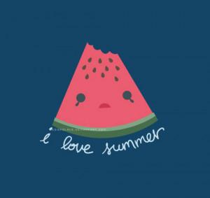 cute, summer, watermelon