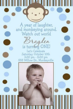 First Birthday Quotes for Boys