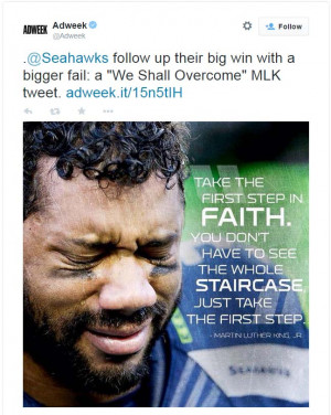 ... Seahawks for sharing a photo of Russell Wilson next to a Martin Luther