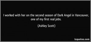 worked with her on the second season of Dark Angel in Vancouver, one ...