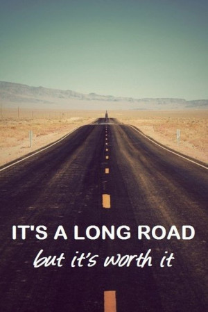 cute, long, quote, road