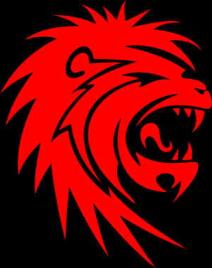 Roaring Red Lion clip art