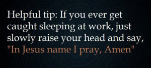 Sleeping at work?