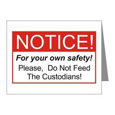 Notice / Custodians Note Cards (Pk of 20) for