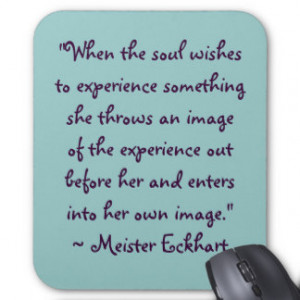 Meister Eckhart Quote Mousepad