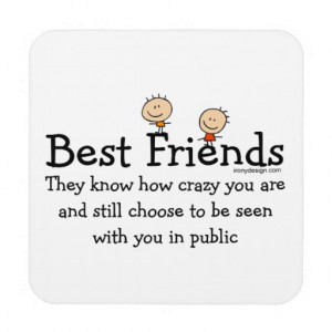 zazzle.comBest Friends Drink Coasters from Zazzle