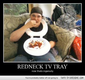 Funny - redneck tv tray