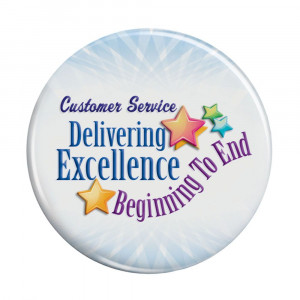 ... Gifts Customer Service Delivering Excellence Beginning To End Buttons