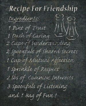 Recipe for friendship....