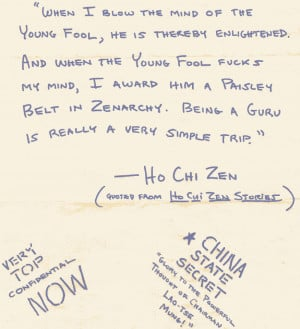 ... note by Kerry Thornley quoting Ho Chi Zen (aka Kerry Thornley
