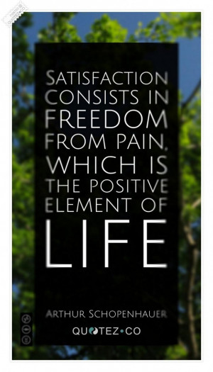 The positive element of life quote