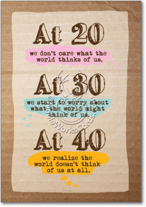The World Thinks Unique Humorous Birthday Paper Card Nobleworks