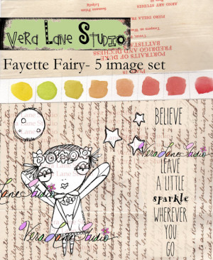 Whimsical Fairy digi stamp set with quotes available for instant ...