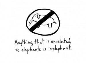 Anything Unrelated is Irrelephant