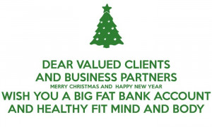 Clients And Business Partners, Merry Christmas And Happy New Year ...