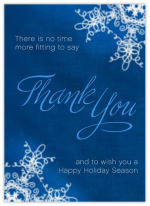... Business Christmas Cards > Customer Appreciation > Holiday Thank You