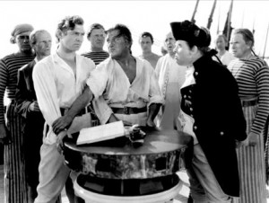 ... William Bligh (Charles Laughlin) in the motion picture Mutiny on the