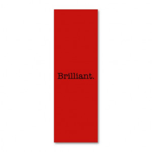 Brilliant Quote Poppy Red Trend Color Template Business Cards