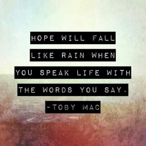 Love Speak Life by TobyMac! Such a great reminder to let our lights ...