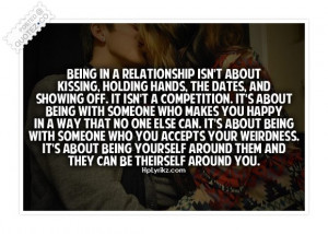 Being In A Relationship Isn't About Kissing, Holding Hands.