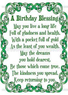 Irish Birthday Blessings