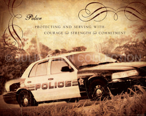 POLICE Inspirational Art Keepsake 8x10 Fine Art Print Family and Job ...