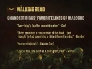 The Walking Dead: Chandler Riggs' Favorite Lines Of Dialogue