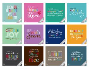 2015 wall calendar -inspirational quote