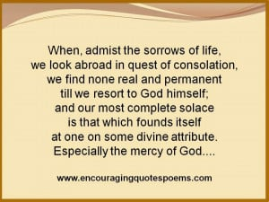 Encouraging Quote on Consolation