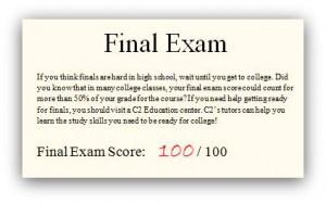 Final Exam Study Tips!