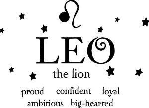 Leo the lion horoscope zodiac vinyl wall art decal home decor sayings ...