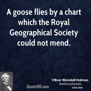 goose flies by a chart which the Royal Geographical Society could ...