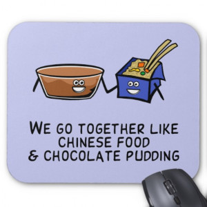 Chinese Food and Chocolate Pudding Mouse Pads
