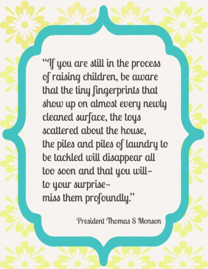 Thomas S Monson quote about family. #Monson #quote