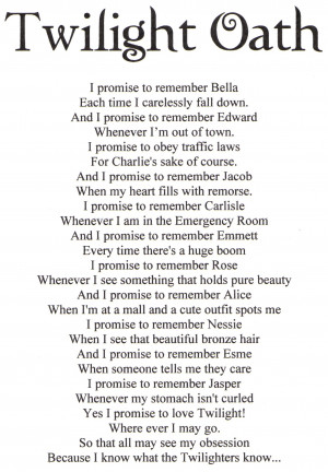 Edward Cullen Twilight Oath
