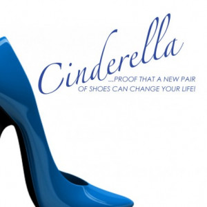 Cinderella Shoes Can Change The World Wall Sticker Quote by Serious ...