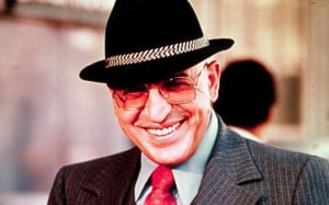 Telly Savalas as Kojak in 1977