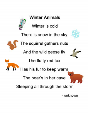 Winter Animals Lesson Plan