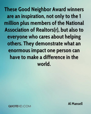 These Good Neighbor Award winners are an inspiration, not only to the ...
