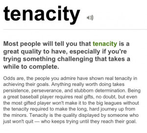 Tenacity Quotes Your tenacity.