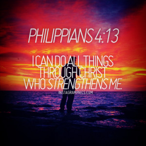 ... 13 Christ Strengthens Me Bible Verse graphic from Instagramphics