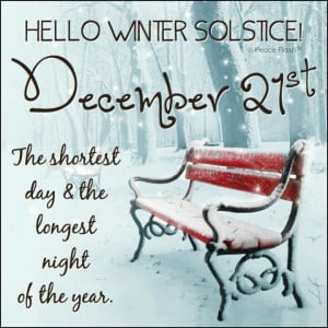 Winter Solstice - one of the happiest days of the year!!